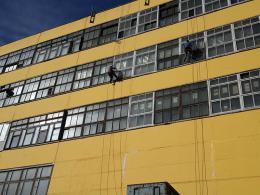как красить фасад